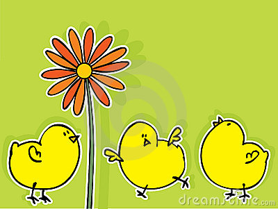 De groetkaart van Pasen