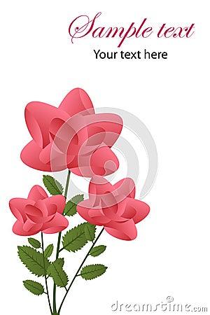 De groetkaart van rozen