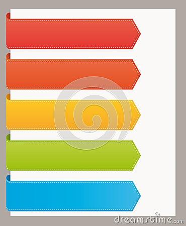 De grote kleurrijke linten van de referentieswebsite.