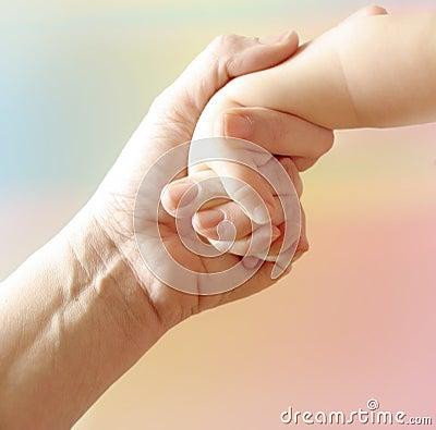 De Hand van de moeder