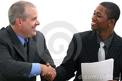 De Handdruk van zakenlieden