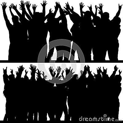 De handen silhouetteert omhoog 4