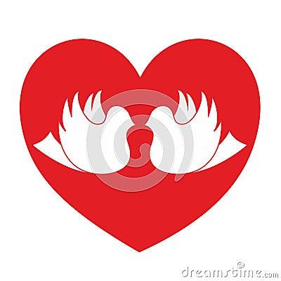 De hartstochtspictogram van de liefde