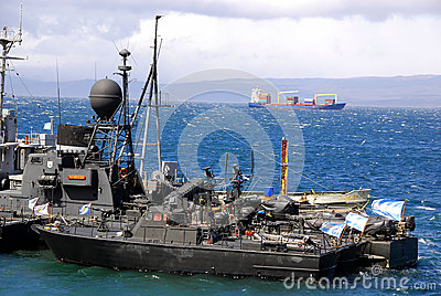 De haven van Ushuaia Redactionele Foto