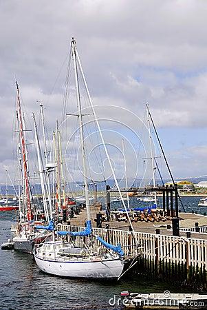 De haven van Ushuaia Redactionele Fotografie