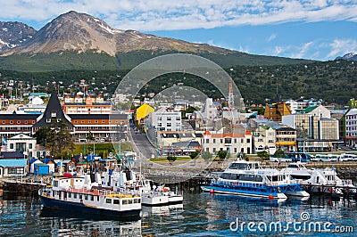 De Haven van Ushuaia, Tierra del Fuego. Argentinië