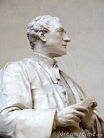 De heer Isaac Newton Statue