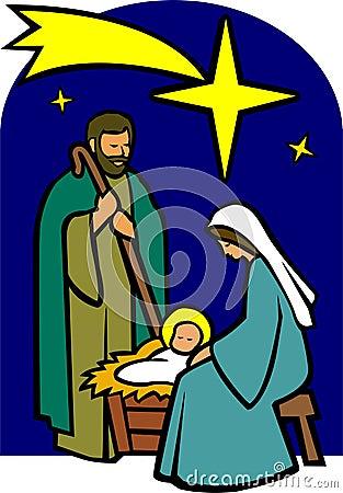 De heilige Geboorte van Christus van de Familie/eps