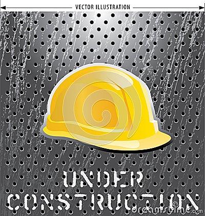 De helm van de bouw