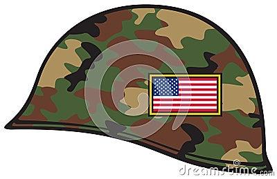 De helm van het leger