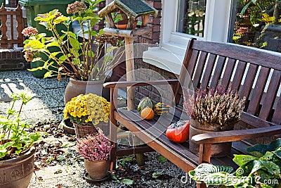 De herfst in Nederlandse tuin