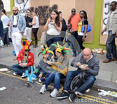 De heuvel Notting Carnaval achtentwintigste Augustus 2011 van 2011 Redactionele Stock Foto