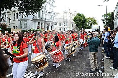 De heuvel Notting Carnaval achtentwintigste Augustus 2011 van 2011 Redactionele Stock Afbeelding