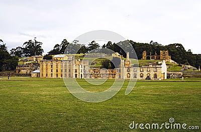 De historische ruïnes van Port Arthur in Tasmanige