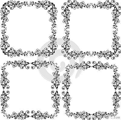 De hoeken en de ornamenten van frames
