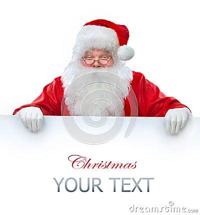 De holdingsBanner van de Kerstman