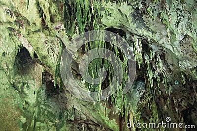 De holen van de stalagmiet