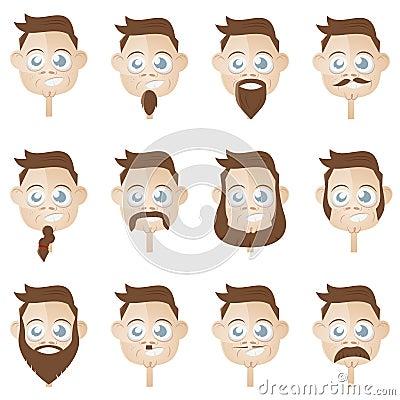 De hoofdinzameling van de baard