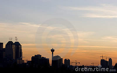 De horizon van Calgary