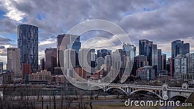 De horizon van Calgary ` s