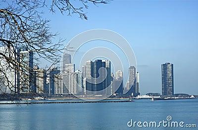 De Horizon van Chicago Illinois