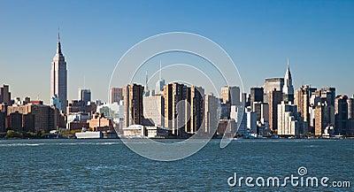 De horizon van de Stadsuptown van New York