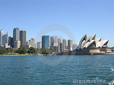 De horizon van Sydney, Australië en Redactionele Afbeelding