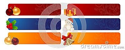 De horizontale achtergronden van Kerstmis