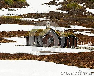 De hut van de berg