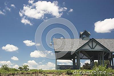 Strandhut in de zomer