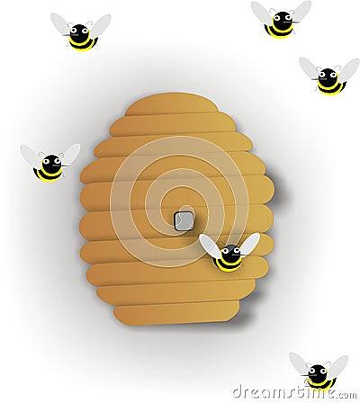 De Illustratie van de bijenkorf