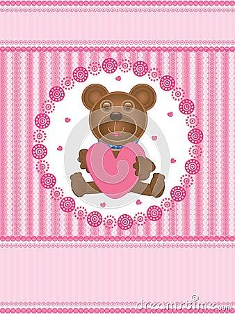 De Liefde Card_eps van de teddybeer
