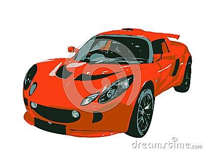 De Illustratie van de sportwagen