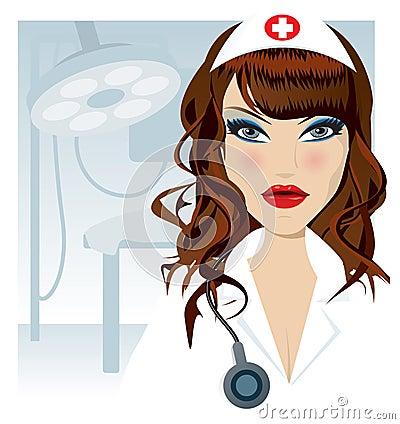De illustratie van de verpleegster