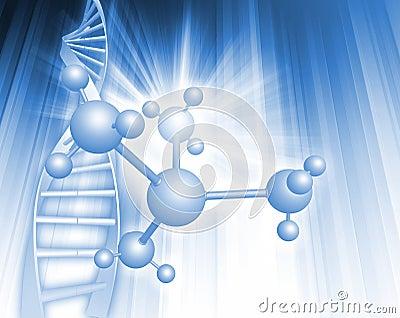 De illustratie van DNA