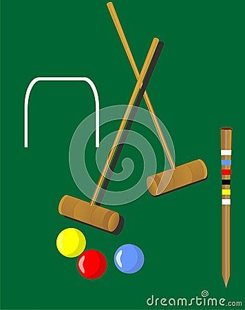 De illustratie van het croquet