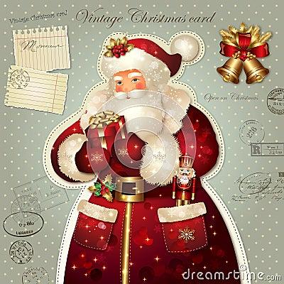De illustratie van Kerstmis met de Kerstman