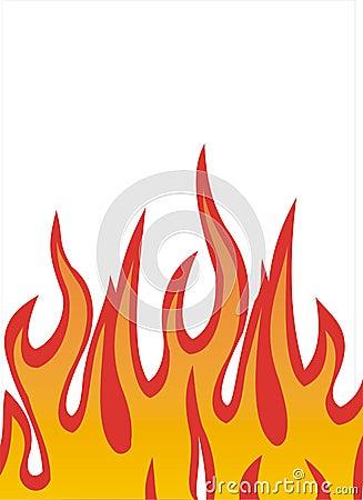 De illustratie van vlammen