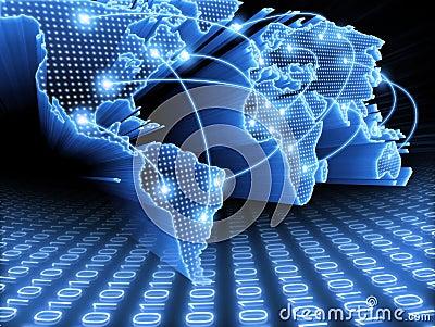 De Informatie van de Kaart van de wereld