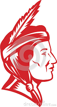 De inheemse Vrouw van de Indiaansquaw