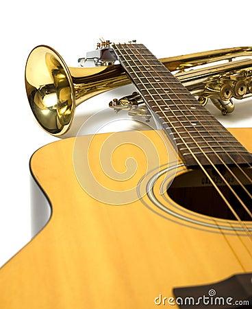 De instrumenten van de muziek