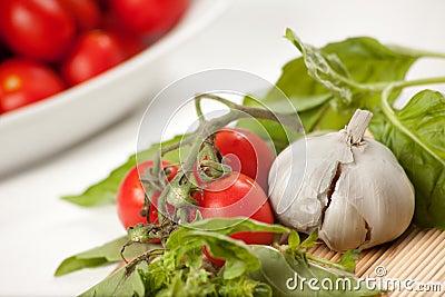 De Italiaanse Ingrediënten van de Saus