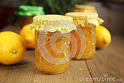 De jam van de citrusvrucht