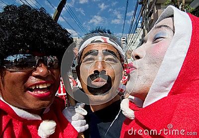 De Japanse Dansers van het Festival Redactionele Stock Afbeelding