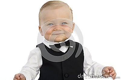 De jongen van de baby in smoking stock afbeeldingen beeld 10459004 - Foto baby jongen ...