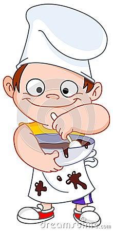 De jongen van de chef-kok