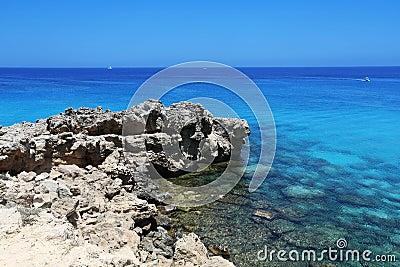 De kaap van Kavogreko in Cyprus