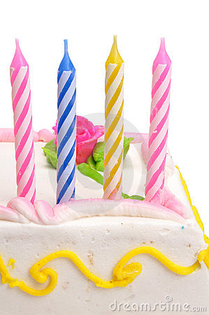 De Kaarsen van de verjaardag met weg