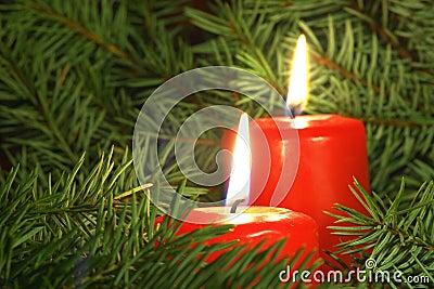 De kaarsen van Kerstmis