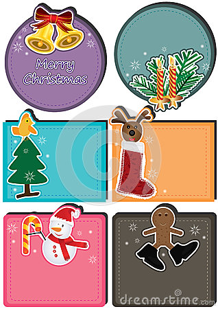 De Kaart Set_eps van het Karakter van Kerstmis